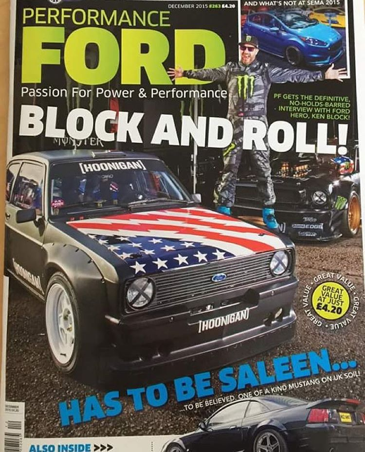 HHIC @kblock43, the #hoonicornRTR and #GymkhanaEscort all on the cover of the latest Ford Performance mag! Oh yeah, and a 12 page spread inside. Make to sure check it out.