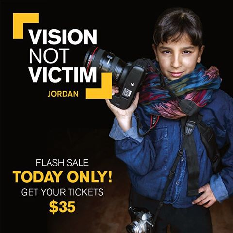 FLASH SALE - TODAY ONLY!! Get your tickets to the @theirc Vision Not Victim: Jordan event which will be held in NYC on Wednesday, December 9 for only $35.  Enjoy an evening of art and innovative cuisine while supporting the IRC's work with Syrian and...