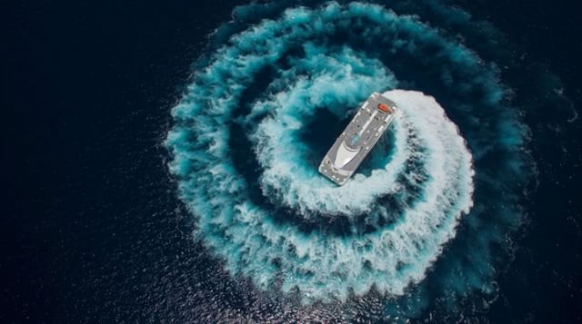 Why should land lovers get all the fun? Us boats can drift too!  Shot by Karlo Matuguinas with a #DJI #inspire1.  Join the #SkyPixel contest today. Win prizes like the #Zeiss #VROne, @lowepro_official and cash! https://www.skypixel.com/events/photocontest