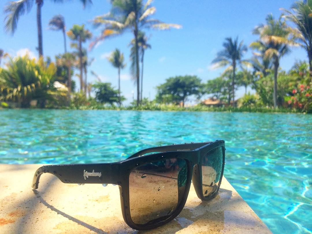 Do your shades float? Cuz these do! The Kameleonz Black Pearl: Floatable + Polarized. On sale for Christmas. Tap link in bio & get some! #FloatOn #lifesabeach #enjoytheride #Kameleonz #bali #travel #floatable #shades #Christmas