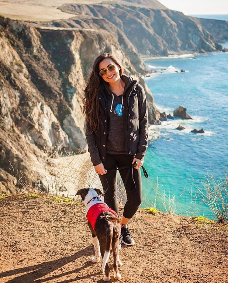 @sunnyshine wearing our Love Blue hoodie at Big Sur