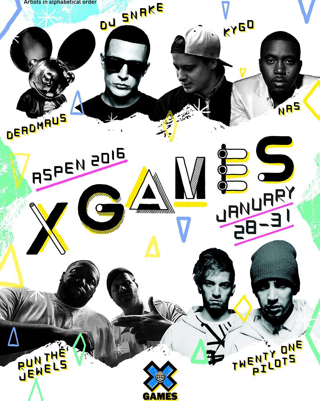 The 2016 #XGames Aspen music lineup is loaded!  Tickets are on sale now at XGames.com.
