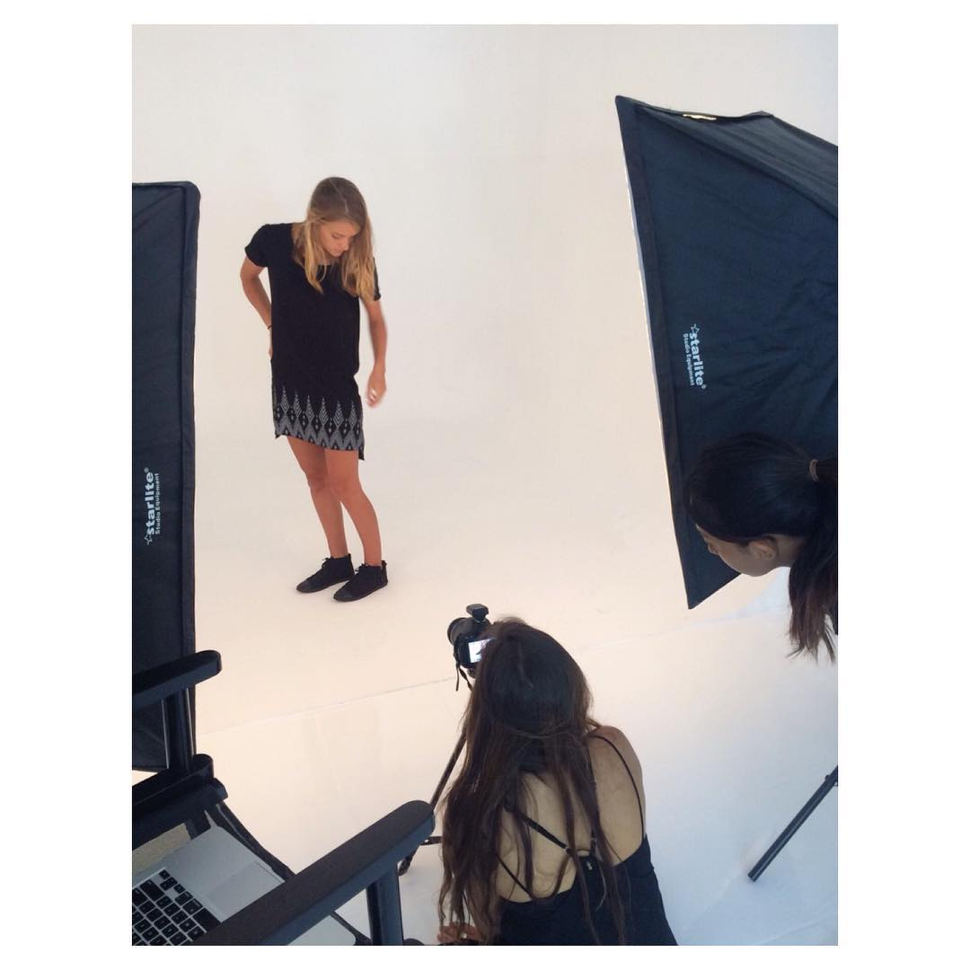 A little behind-the-scenes for ya... Busy day shooting today!