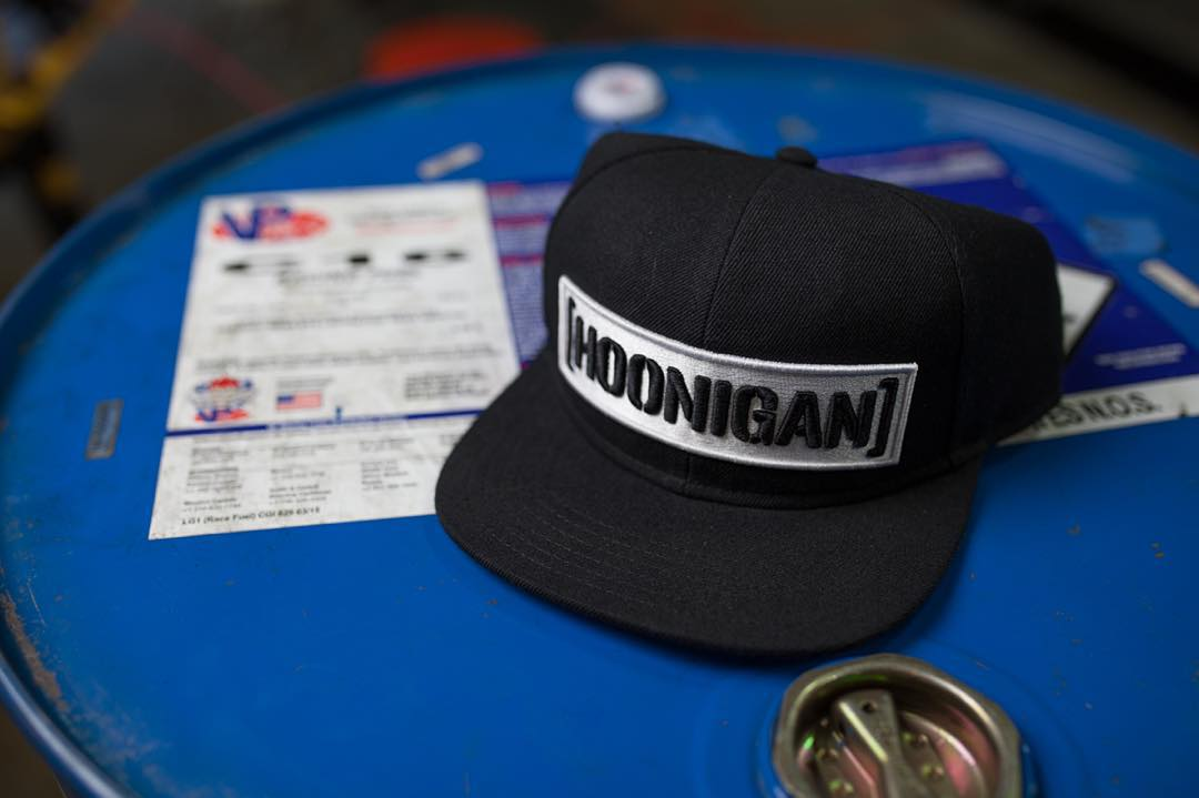 White on black C-bar snap back. Available on #hooniganDOTcom.