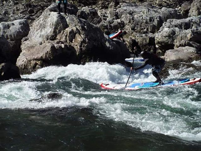 @joeysaputo paddling the #HalaNass in Japan. #halagear #adventuredesigned #whitewaterdesigned #japansuptour #travel #explore #paddleboard #inflatablesup #isup #standuppaddle