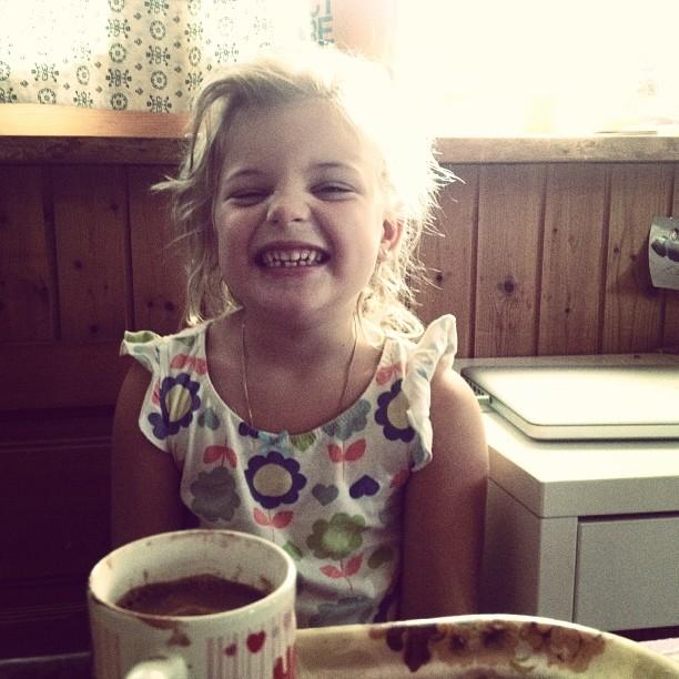 Desayunando con Lula.