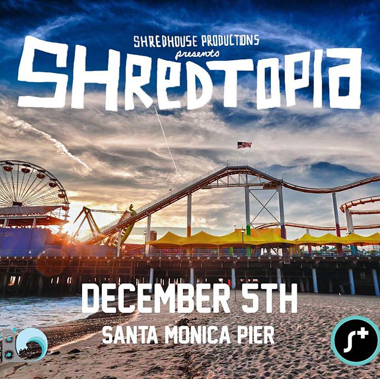 We're stoked to be part of @shredtopiafest this Saturday, 12/5. Come out to Santa Monica Pier and say hi at the @stoked_la tent before rockin' out and getting your skate on. Can't wait to spend the day with @shredhousepro and you!