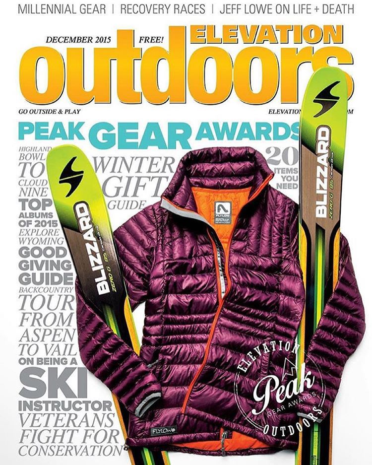 Well, this sure was a nice surprise!  @flylowgear Tess Puffy is on the cover of the new @elevationout magazine.  #goodpressisgreatpress  #embracethestorm | #flylowgear