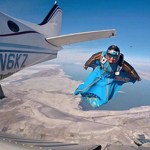 Never jump out of a plane without your Kameleonz Shades! @marshall__miller & the @goprobombsquad show us how it's done here, sporting the Bali sunnies. #lifesabeach #enjoytheride #kameleonz #skydive #adventure #sunglasses #gopro