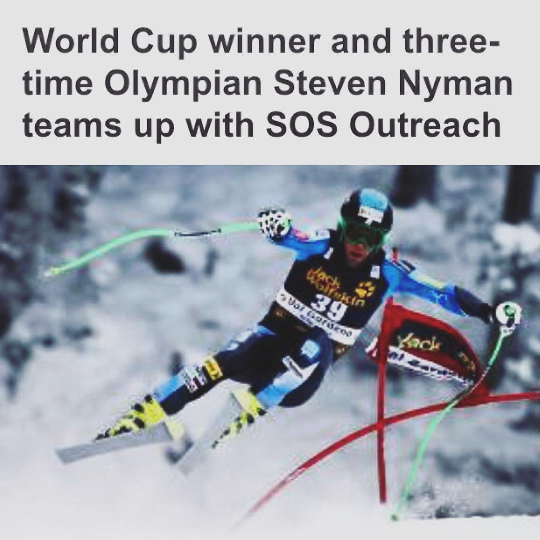 Anyone see the @vaildaily this morning? #stoked to announce that @steven_nyman has agreed to act as SOS's first athlete ambassador. Come cheer him on this weekend at the #audi @birds_of_prey_beaver_creek races!
