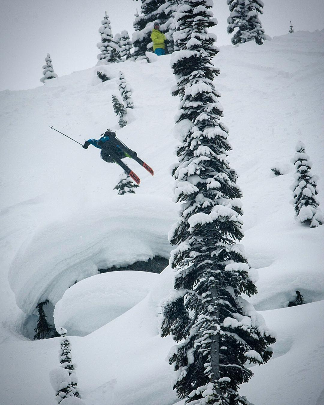 This guy eh?! Kye going massive on a 3. The 2015 @powdermagazine Awards are just a day away and we're extremely proud to have our two athletes @kyepetersen  and @cam_riley  nominated for Best Male Performance. #powderawards  Join us @altaskiarea  the...