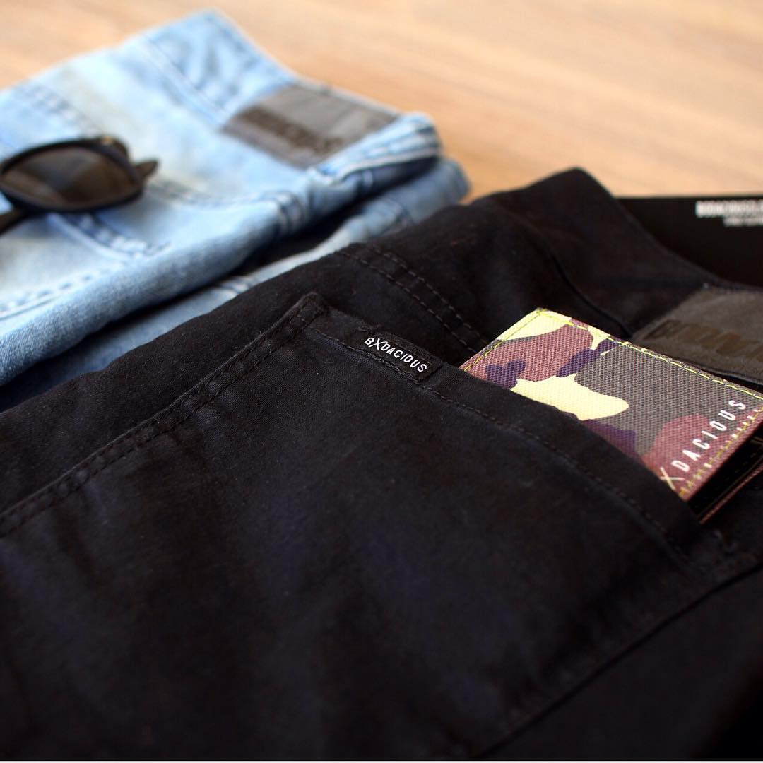 Black denim back in stock