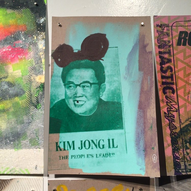 Kim Jong Illin' in Seattle with the @electriccoffin crew.