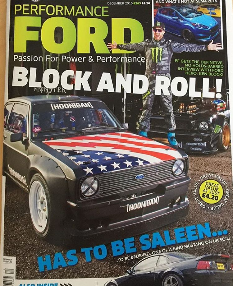 Check out what's gracing the cover of the December issue of Performance Ford Magazine - the Hoonigan Gymkhana Escort Mk2 and my Ford Mustang Hoonicorn RTR! Oh, and my mug as well. Ha. Check out the 12-page feature/interview with me inside, available on...
