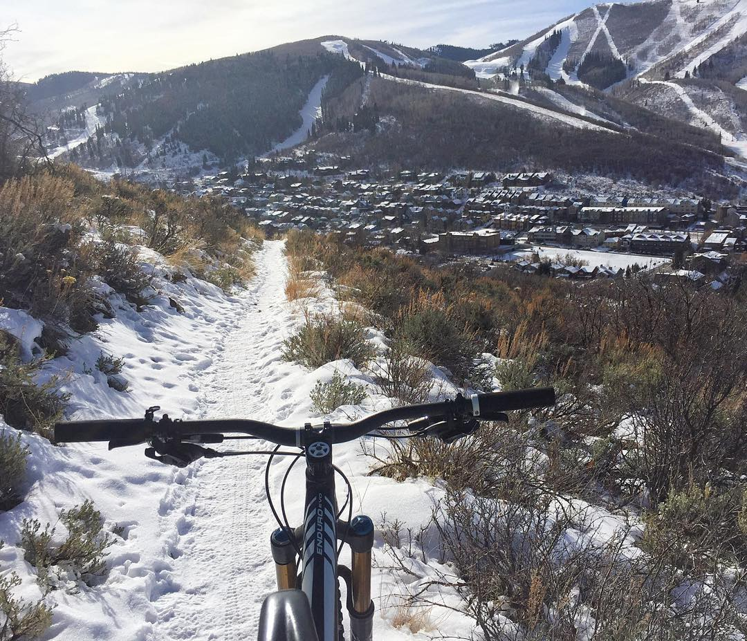 Apparently, I am not fully ready for winter yet.  At least on the trails. I was itching to ride my bike yesterday, so I went and found some snow covered ones to ride. This is the first time I have done this. Pretty fun! The snow is quite smooth when...