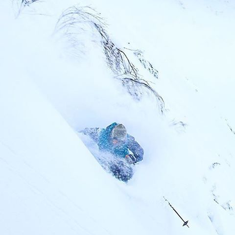 Powder day in Tahoe.  Not gonna make it to work for a bit!  Here is @jeffpunkrockhoke in AK 2 days ago.  PC @ralph_kristopher