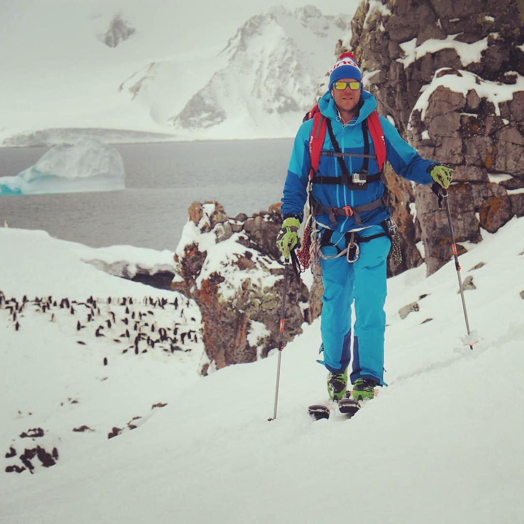 Kind Design athlete Austin Porzak @aporzak1 skiing in Antarctica... No big deal.  #kinddesign #kindathlete #skiantarctica #liveyourdream #nobigdeal #ltdnbt