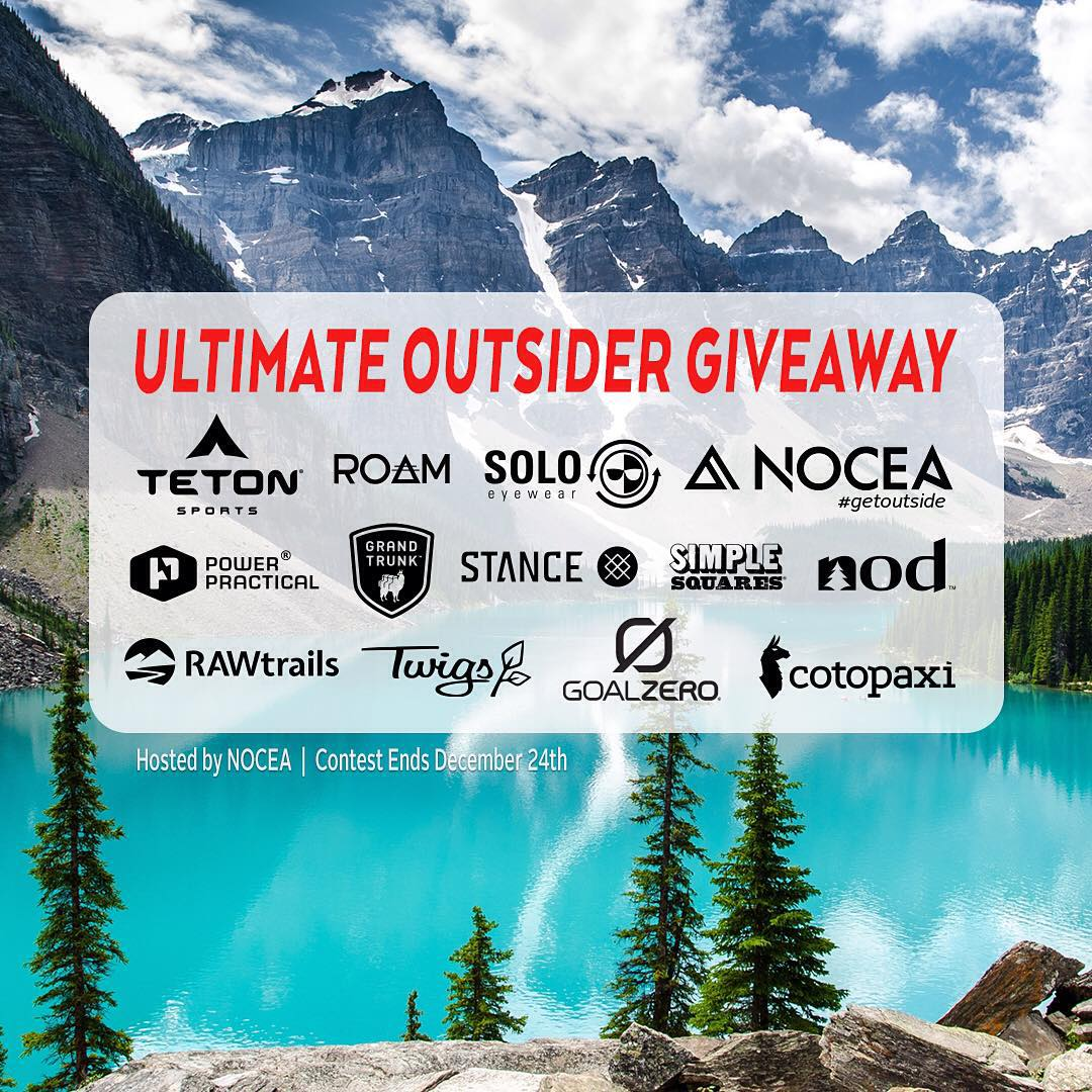 Ultimate Outsider Giveaway! Enter to win $1K worth of adventure gear! We've teamed up with some of our favorite outdoor brands this holiday to bring you an EPIC giveaway!  To Enter:  1. Follow @nocea_clothing as well as @tetonsports, @grandtrunkgoods,...