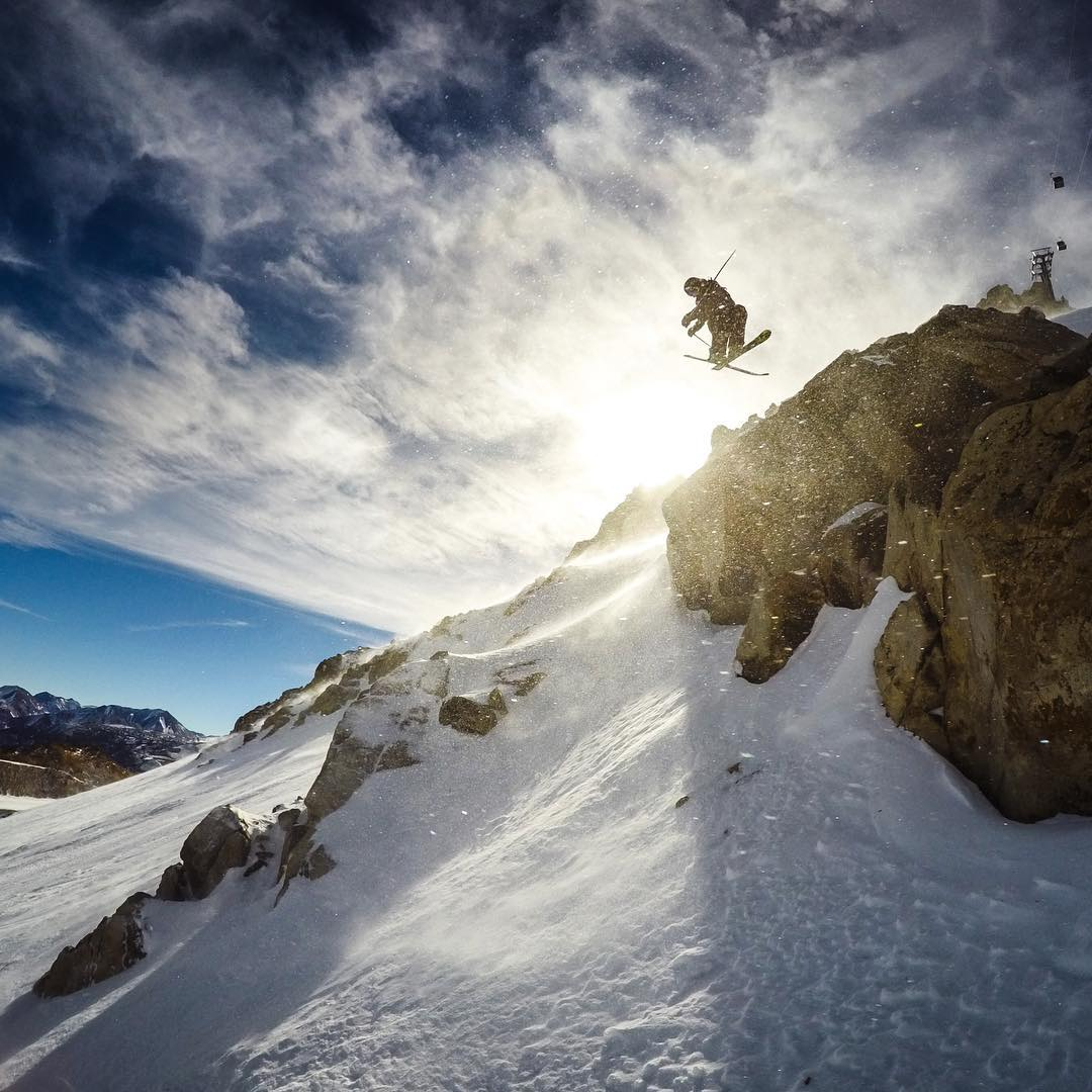 GoPro Featured Photographer - @PeterMorning  About the Shot: One of my favorite runs at @MammothMountain is Climax. This run starts at 11,053 feet at the top of the Sierras and features fun little obstacles to take photos from. This image has a special...