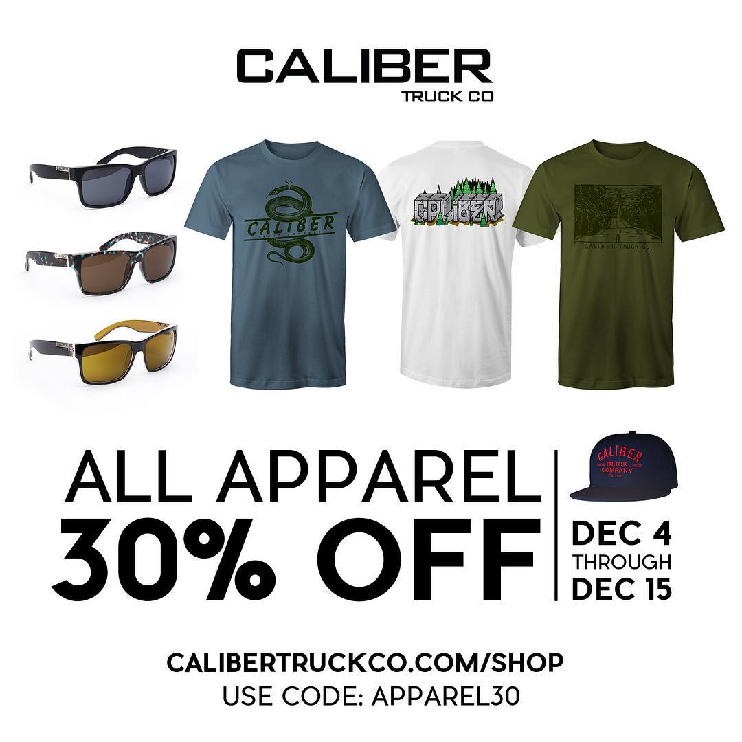 Now through Dec. 15th all apparel on our e-store is 30% off with code 'apparel30'!