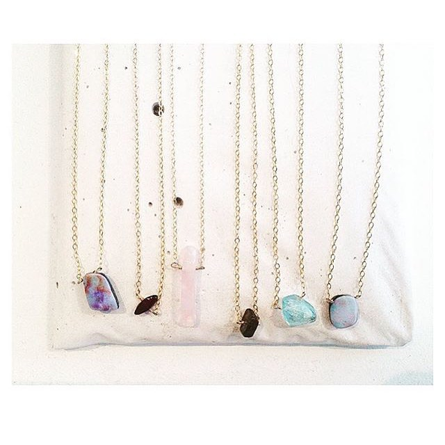 "December 8 will be the date for the custom stamping ""class"" for all those with a hard love for rocks and their meanings we're going to be dishing up a sweet round up of gemstone necklaces with pendants available for you to customize.  You pick the..."