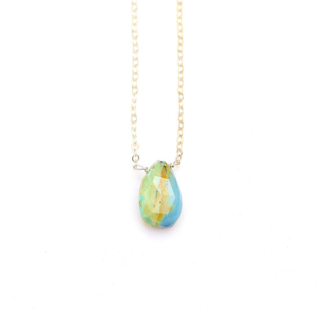 Blue Peruvian Opal is one of Nature's most fascinating opals. Found in the Andean Mountains, BPO was known to be a gift from mother nature. It's Rich blue and green tones also target your creative center and help with your artistic self.  The color...