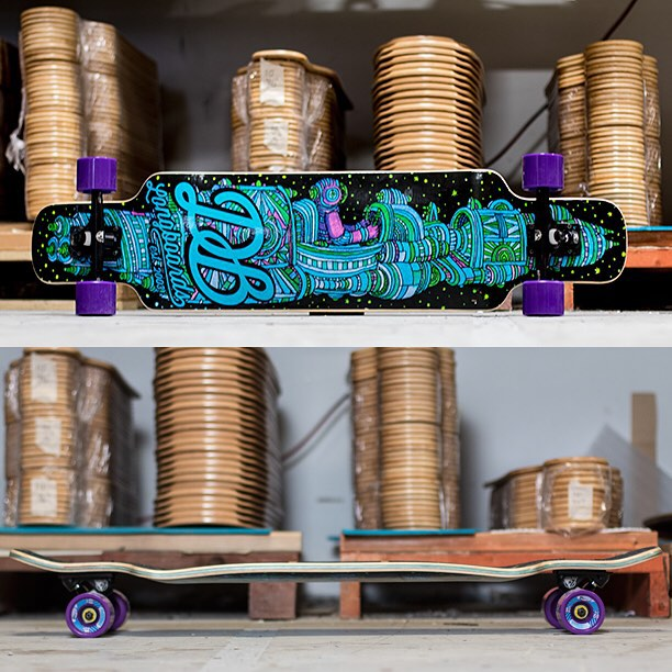 The Cosmonaut V2 is an all-purpose longboard that is stiff and all-around fun. Freeride, cruise, dance and go fast on this board! #dblongboards #longboarding #longboard #skateverydamnday