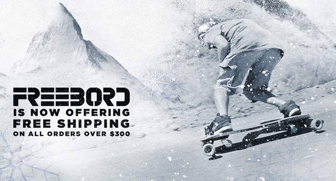 Free shipping on all US orders over $300! #Freebord #Snowboard the streets