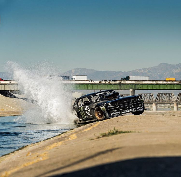 @KBlock43's Hoonicorn • 1965 Ford Mustang • 410 cubic inch V8 • 845 horsepower • All-wheel drive • Star car in 'Gymkhana 7' • Featured in '@NeedforSpeed'
