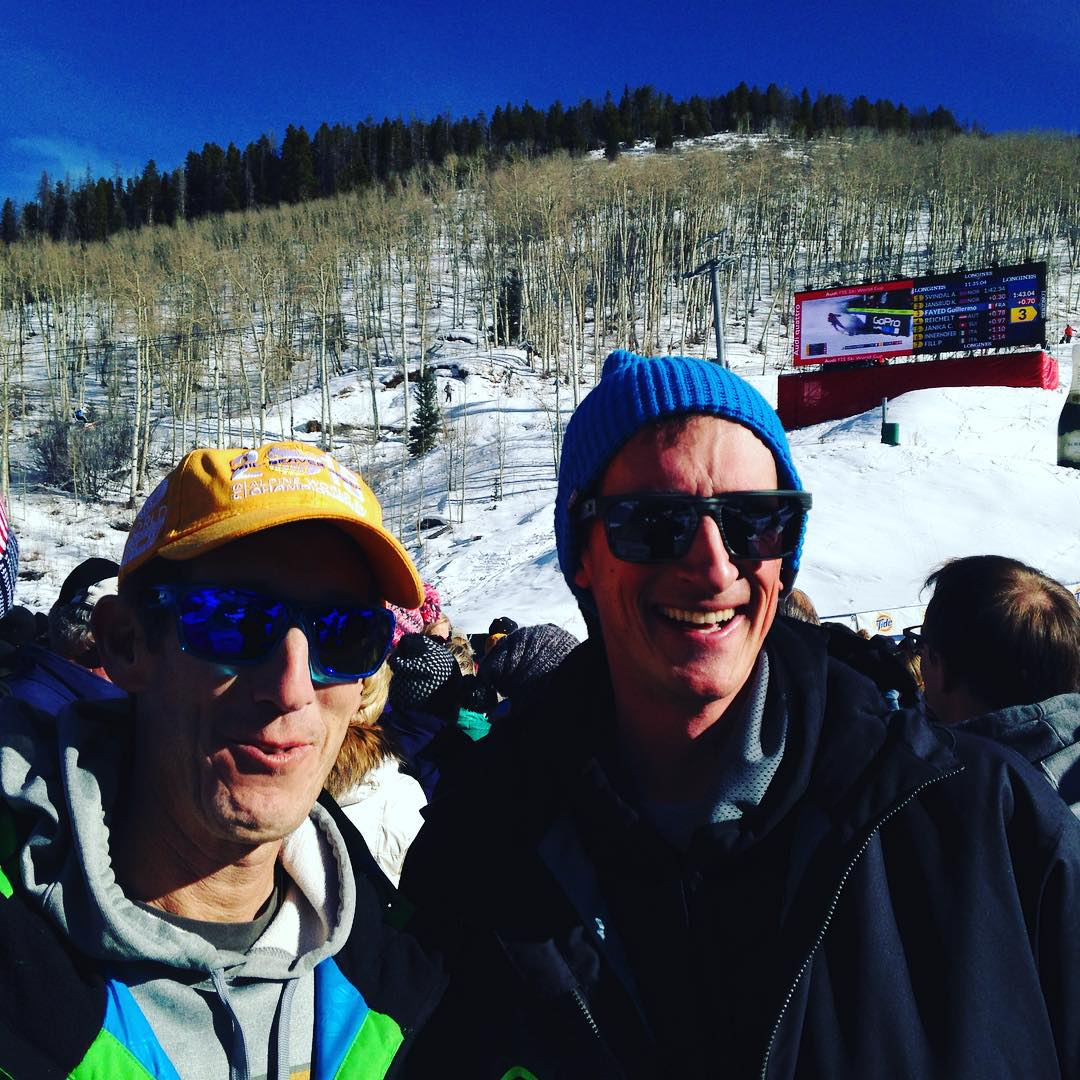 Great #bluebird day cheering on team #usa and @steven_nyman with #teamnerve! Lovin' the shades @opticnerveeyewear