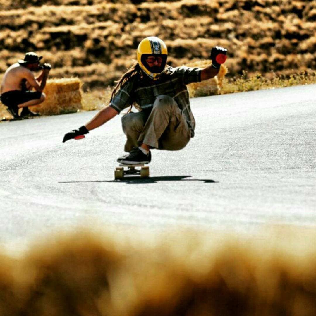 Bonzing pro tip #34,666,545: shape a skateboard out of solid wood and ride it down Maryhill!  Team rider Adrian Da Kine--@adrian_da_kine riding a solid plank of ash wood down Maryhill!