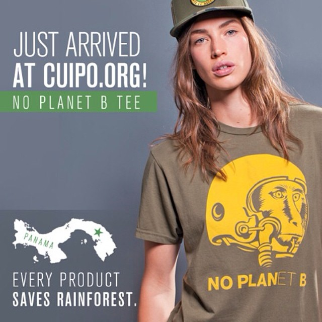 "FREE FRIDAY!!!!!!! New to Cuipo.org the ""NO PLANet B"" shirt. Tag your friends to win!!! Or visit https://www.cuipo.org/shop/product/pid/465 to pick the shirt up on sale. #cuipo #saverainforest #noplanetb @cristacober"