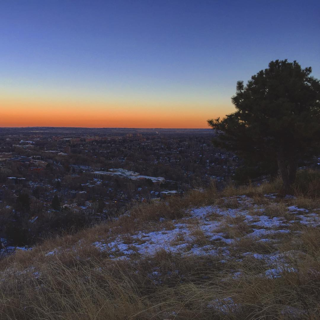 mornings above boulder