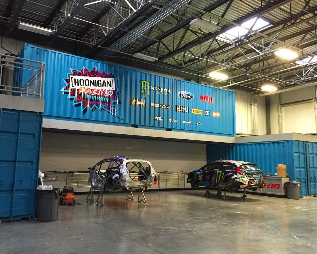 Quiet shop photo from yesterday morning at #HRD_HQ. #offseason #FordFiestaST #HooniganRacing