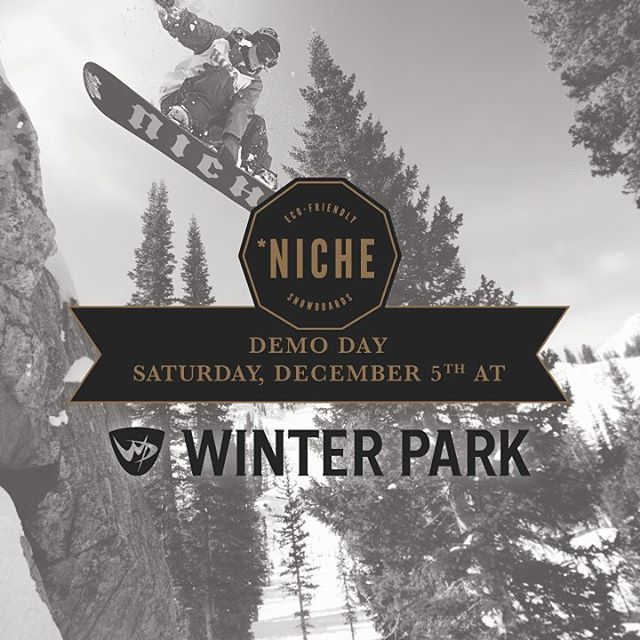 Want to test out a #niche deck? We're having a demo this weekend at @winterparkresort!! Head on over and say hello to our lovely friend Gavin who will get you all sorted out.