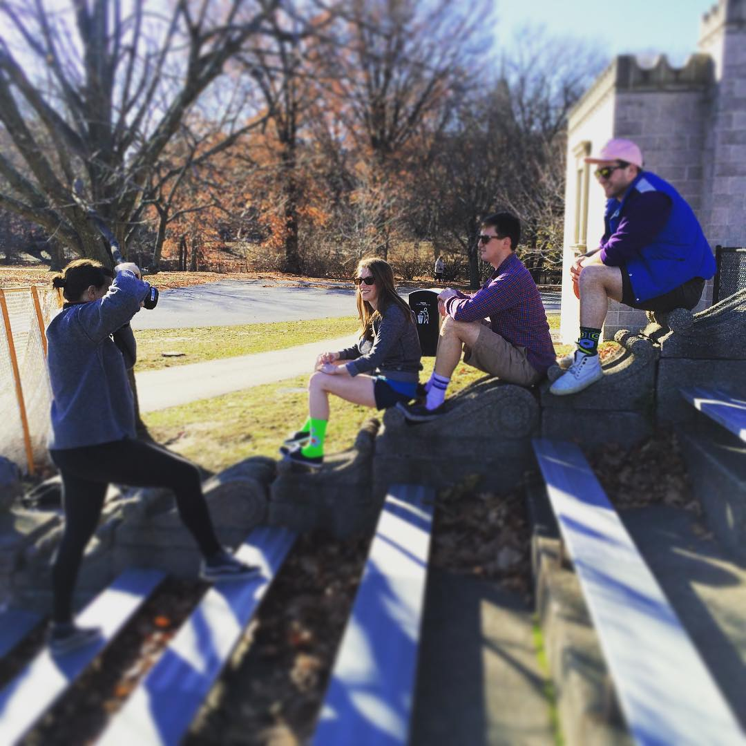 Behind the scenes at this mornings shoot for our new #spring line coming out #winter2016. Stay tuned for more #sneakpeaks! #Socks #Athleisure #Photography #BTS #Boston #Lifestyle #StyleGuide