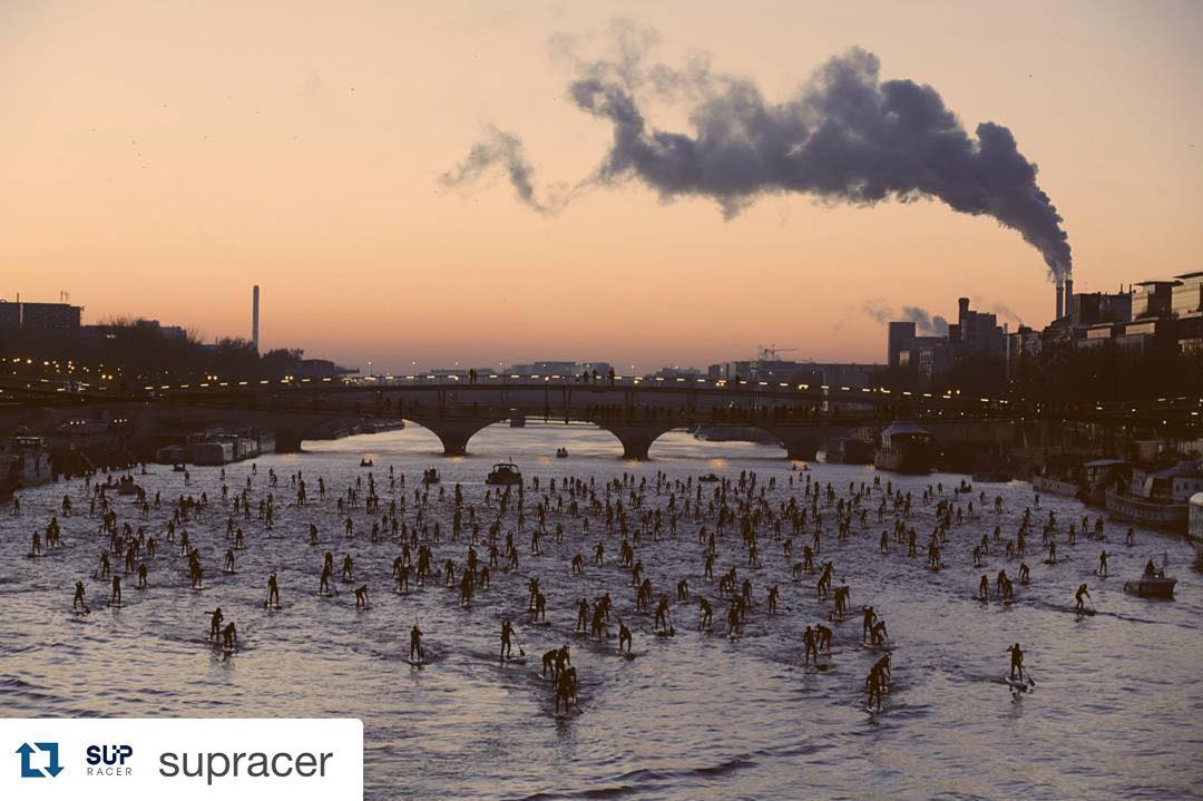 #Repost @supracer ・・・ The Paris Crossing is set to become the largest SUP race in the world, with 500+ competitors standing on the River Seine at dawn for the unique opportunity to paddle past the Eiffel Tower and other iconic landmarks. Should be an...
