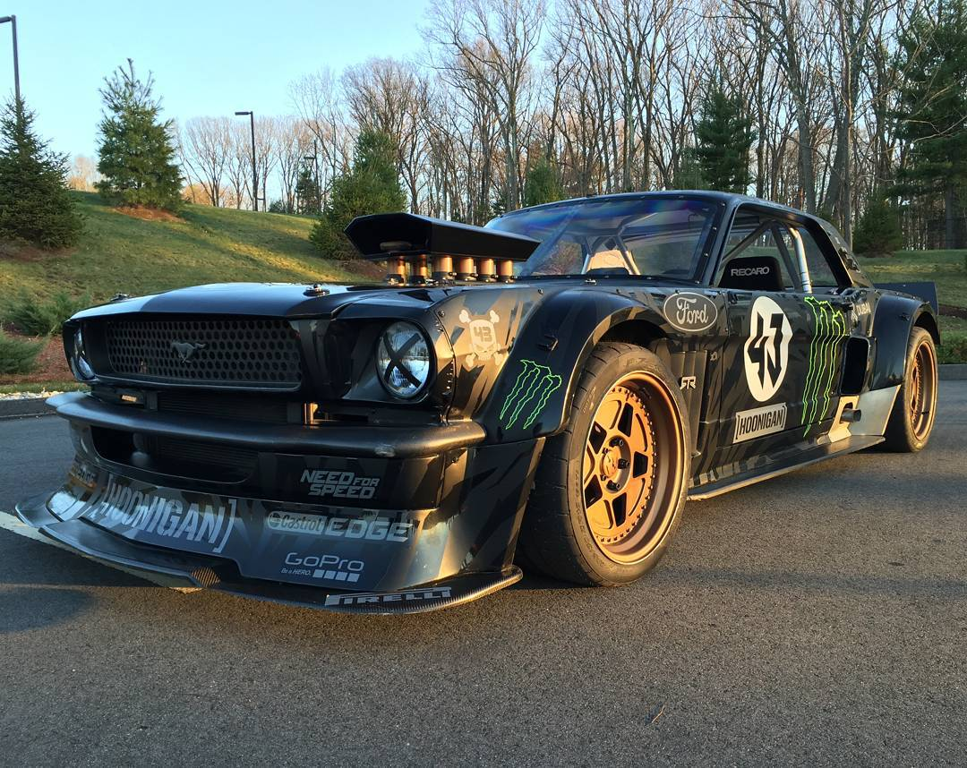 Tomorrow, five-time#XGamesmedalist @KBlock43 is going to drift @ESPN HQ in his845-horsepower, all-wheel driveFord Mustang Hoonicorn RTR!