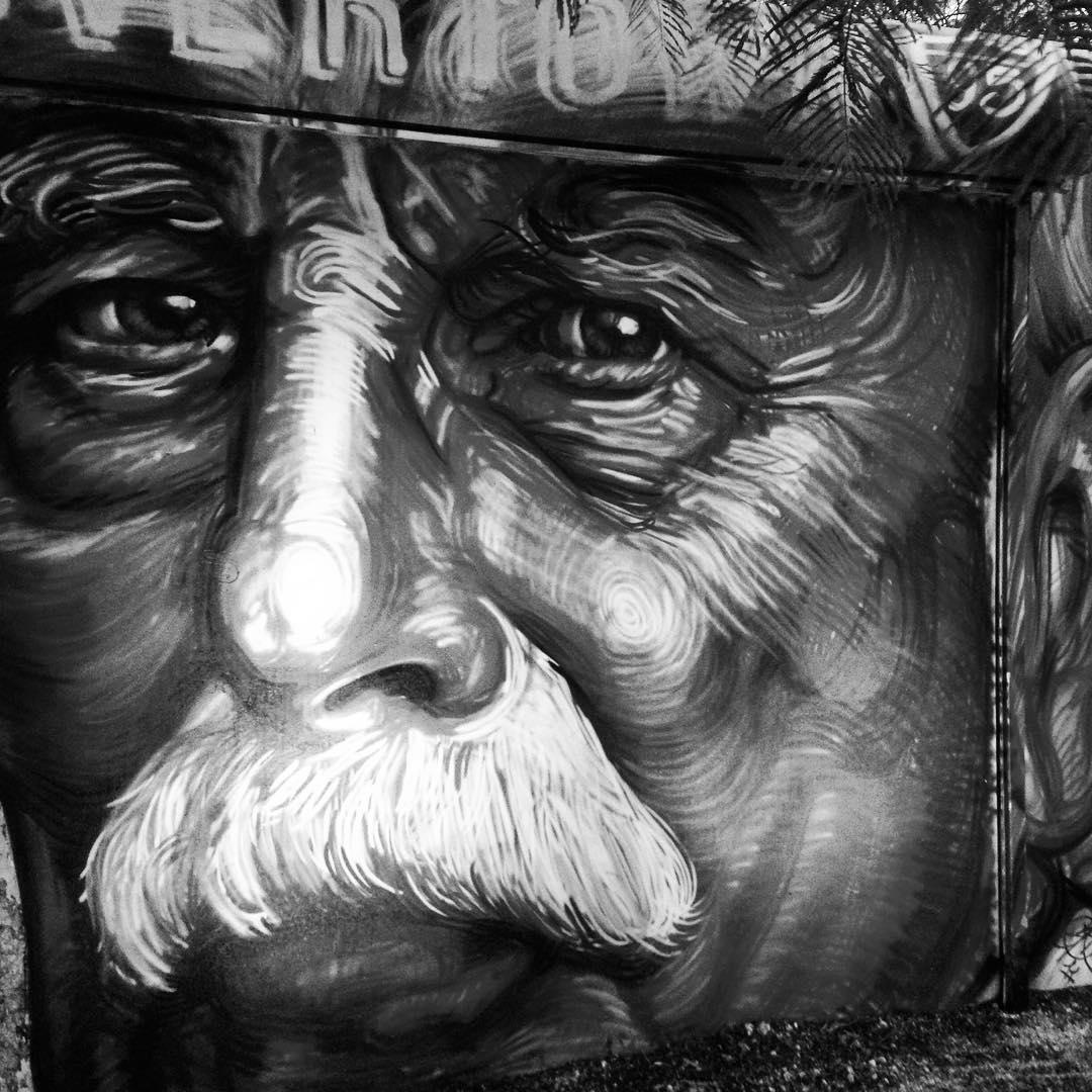 @gaiastreetart mural at wynnwood walls. #wynnwood #artbasel #gaia #streetart
