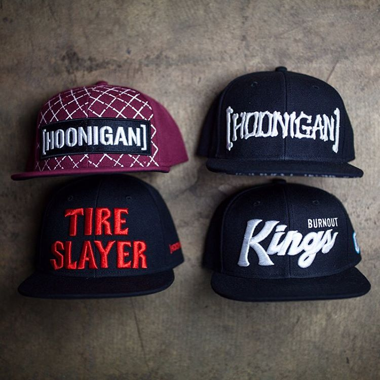 Just some of the essential headware available on #hooniganDOTcom.