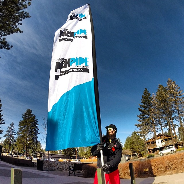 High flying action is about to go down today at @thenorthface Park + Pipe Open Series pres. by @nissan at @skiheavenly | #High5ives to @mountainsportsintl for putting on another awesome event! #PPOS