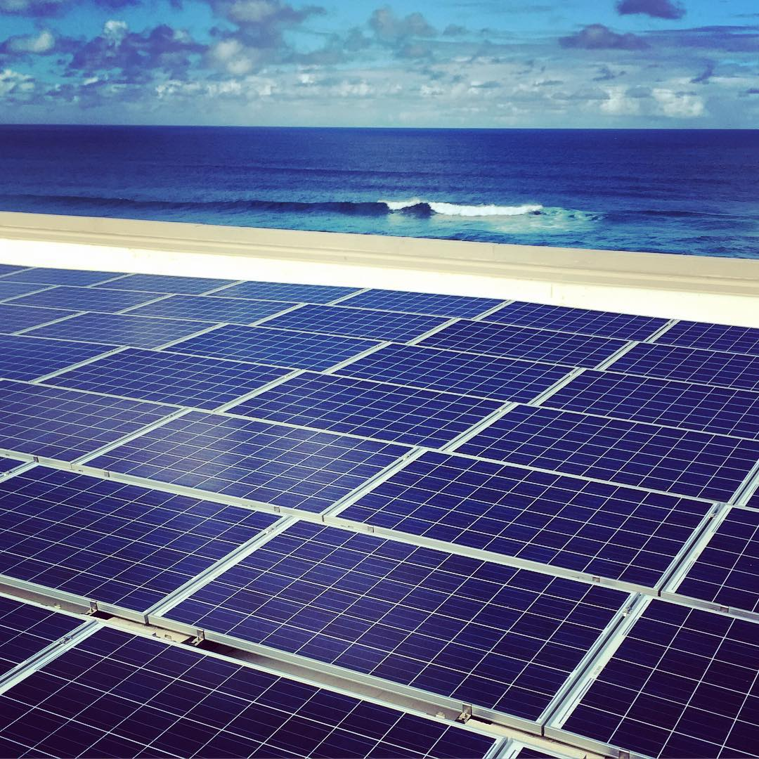 Power lines and power panels are both firing over at @turtlebayresort resort today, we we check out their vast array of #solar panels that cover almost every square foot of available roof top on the hotel. ☀️ It's all part of the work we are doing to...