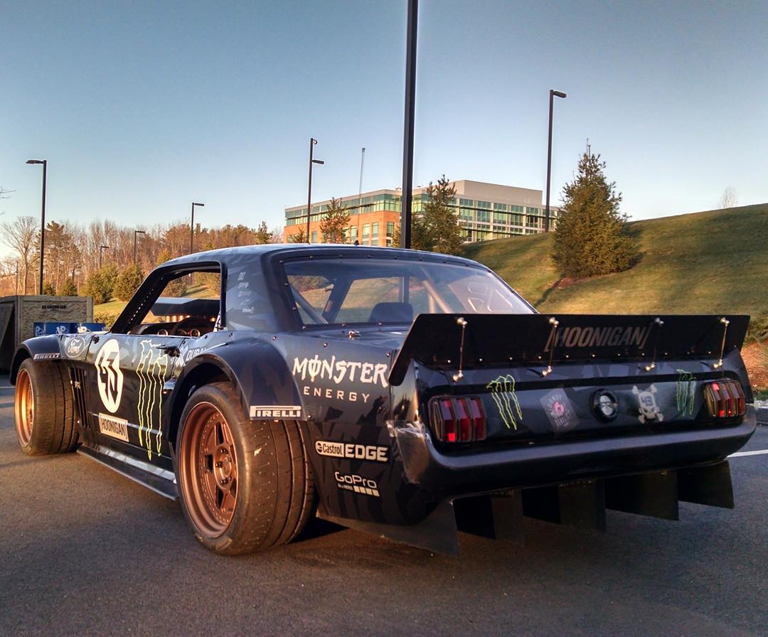 Five-time #XGames medalist @KBlock43​ is gonna unleash his 845-horsepower, all-wheel drive Hoonicorn at @ESPN​ HQ today!