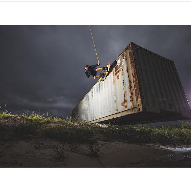 @quinnsilvernale | With another amazing shot on the container wall ride at @valdostawakecompound | check it out in the latest issue of @alliancewake |