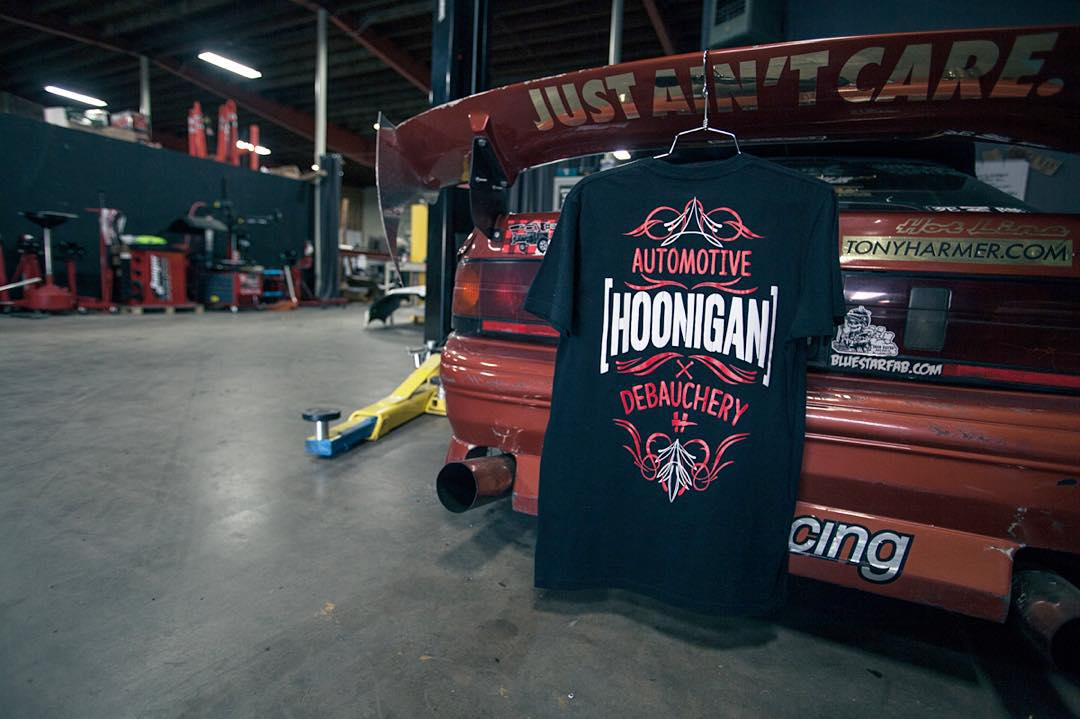If it's loud, powerful and kills tires it's kind of a hot rod, right? The Automotive Debauchery tee and, well, in general on #hooniganDOTcom.