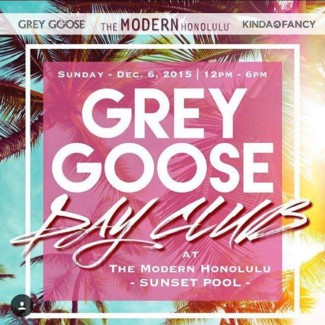 Come party with your pants off at The Modern Honolulu.  First person to finish a bottle of grey goose wins my dad's phone number #themodern #greygoose #dayclub