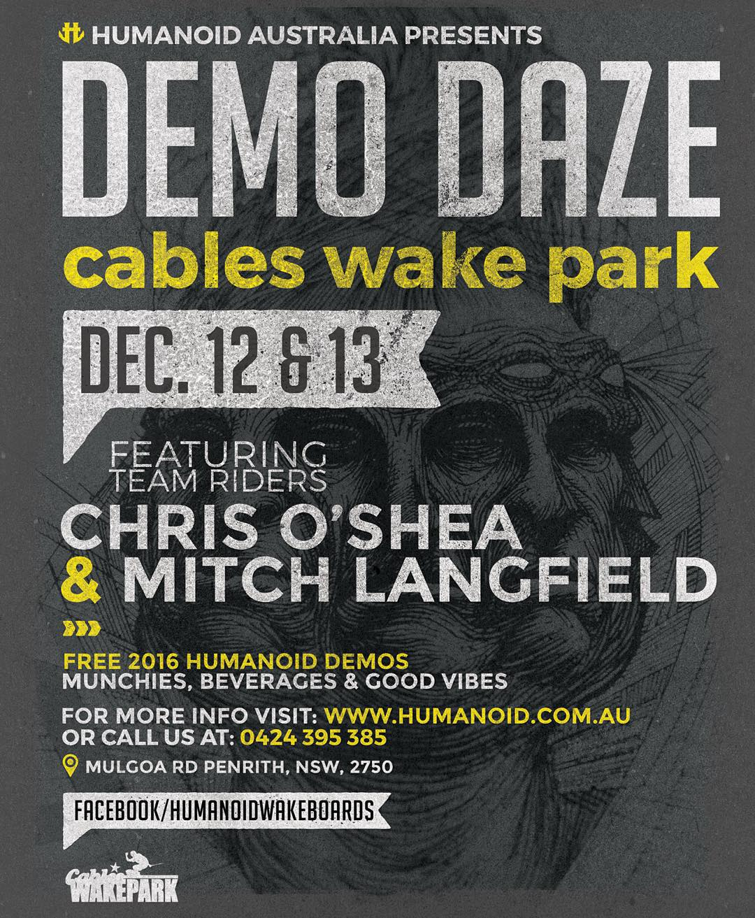 Catch @livesimple and @mitchlangfield this weekend at @cableswakepark!  Demo some of the new decks and take a peep at humanodwake.com.au #wakeboarding