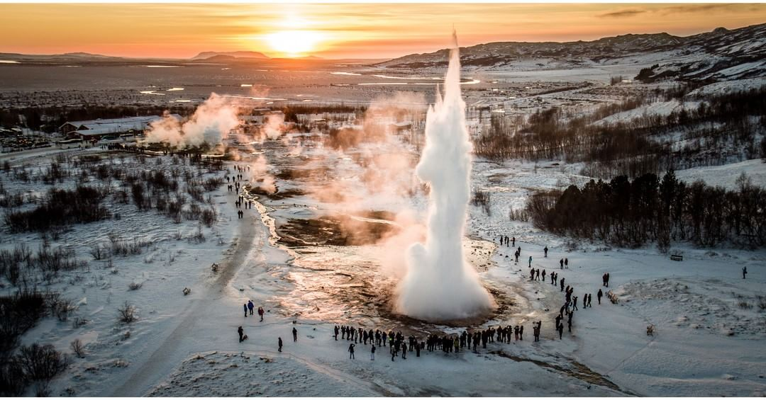 Strokkur Geysir captured with a #DJI #inspire1 PRO (X5R)  What other natural wonders could you capture with the inspire 1 PRO?  Credit: Ferdinand Wolf #IamDJI