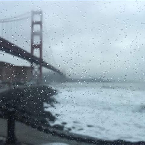 Winter time. 8 foot waves under the Golden Gate in the rain with @zackattack & @ericmcgregor // #itson #mafiateam