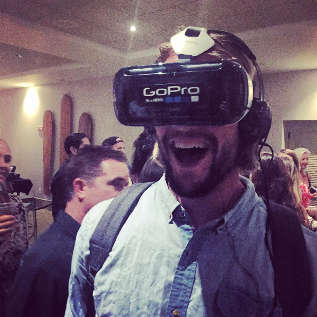 Mr. Perfect #20 @owright was there too at the #SurferPoll event, even though he told us earlier today he probably just got the best barrel ever at Pipeline... he was still pumped about the immersive  3D  @gopro footage of barrel riding in Tahiti !